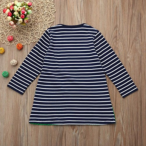 2acc9dd78489 Winsummer Toddler Baby Kids Girls Stripe Duck Print Embroidery Princess  Party Dress Cartoon Pattern Skirts