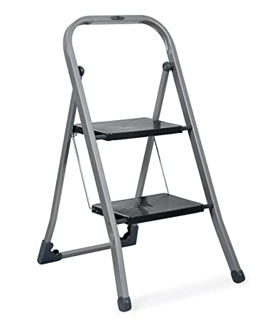Gimi Tiko 2 Steps Steel Foldable Ladder (Blue, Grey and White)