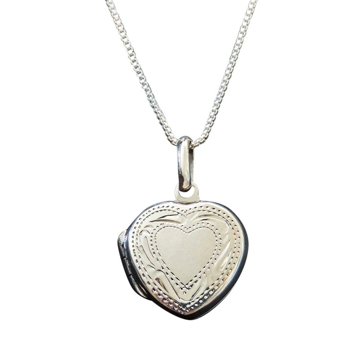 e0ec80315afdb Amazon.com  Sterling Silver tiny Heart Locket on 14