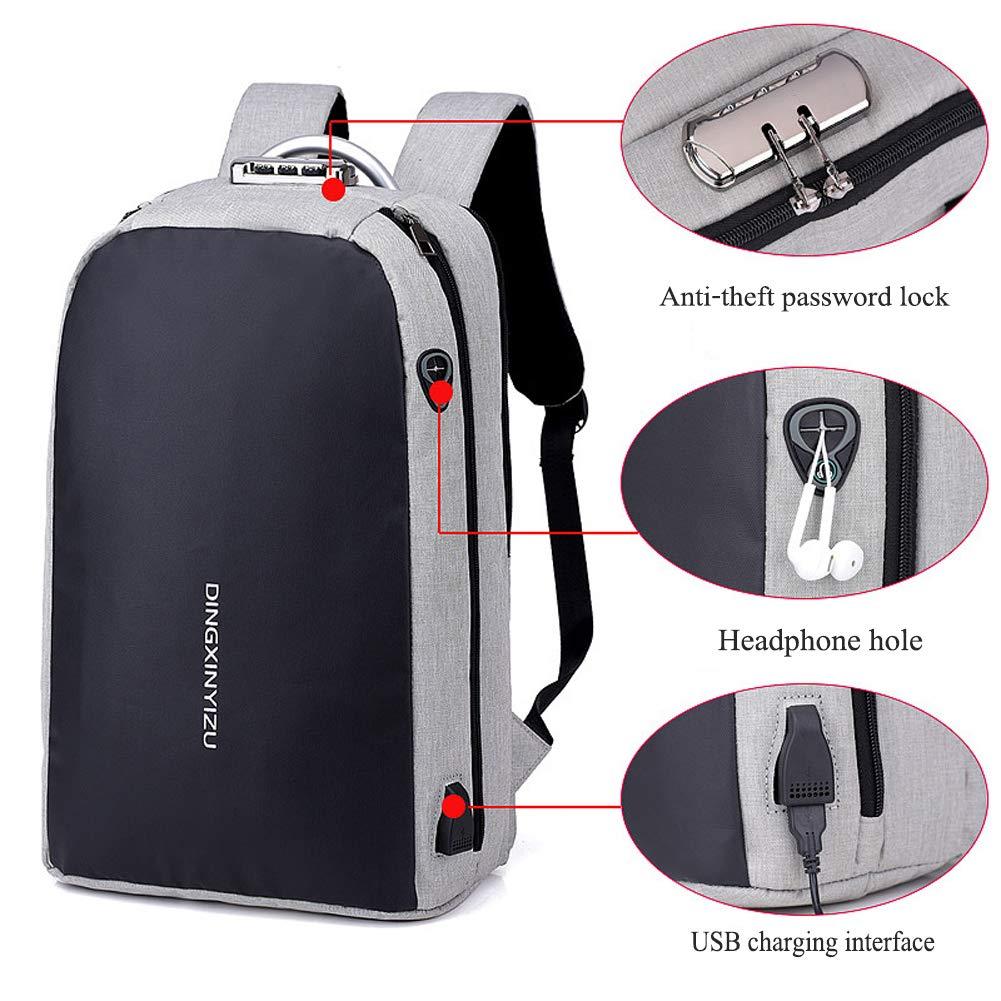 Zhrqinss Smart Laptop Mochila Hombres con Puerto USB De ...