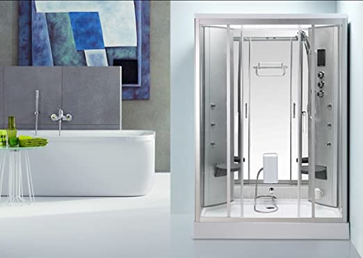 Genérico de cabina de ducha con hidromasaje Hammam 2 personas 140 ...