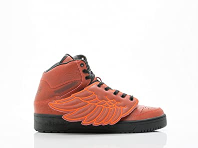 Jeremy Scott Wings BBall Mens in Red/Red by Adidas, 9