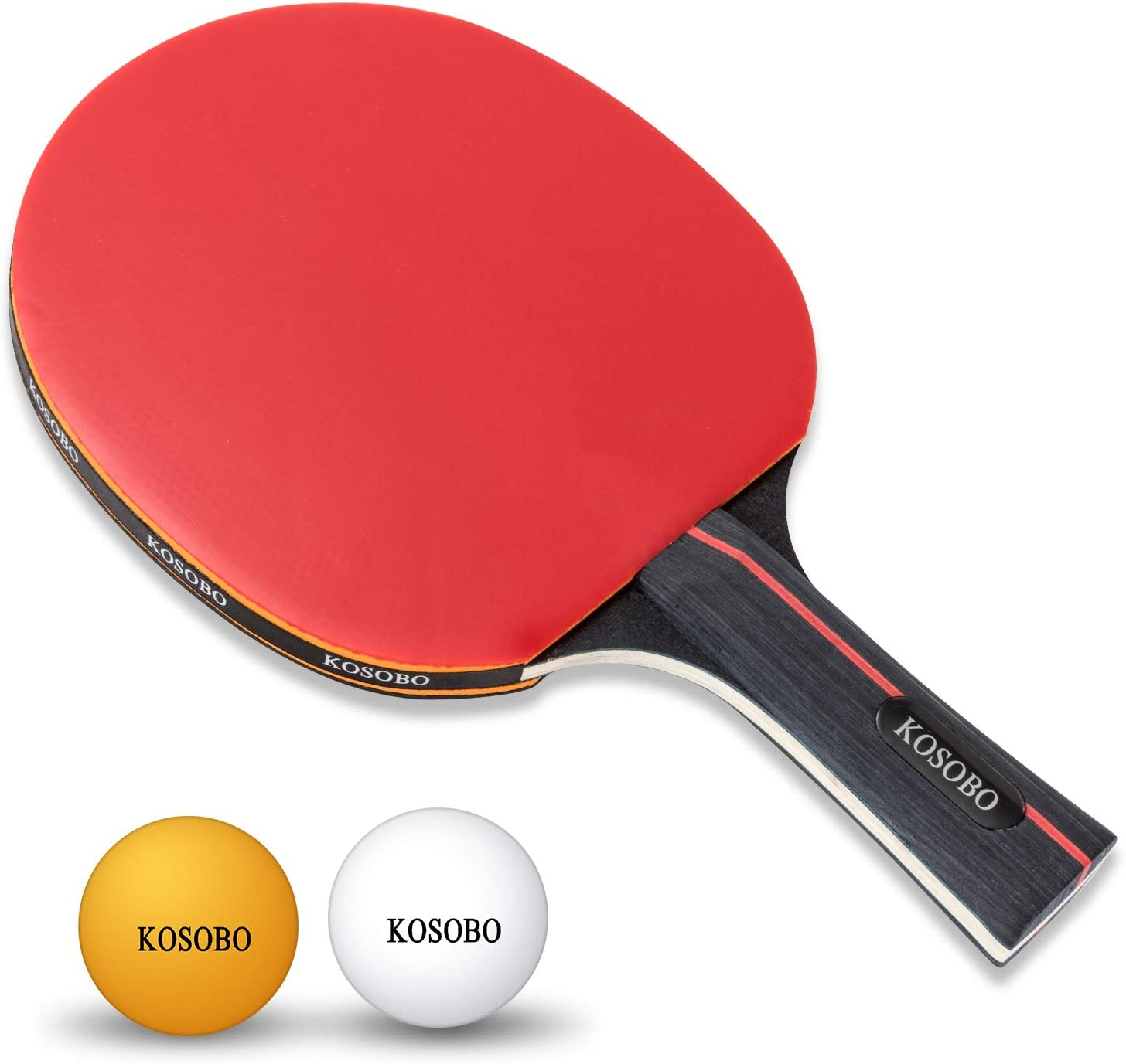 KOSOBO Ping Pong Paddles, with a Retractable Net, 6 Table Tennis Balls, Premium Table Tennis Set for Home, Office and Outdoor Playing : Sports & Outdoors