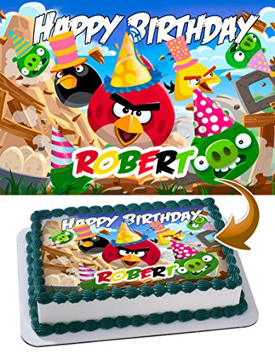 Edible Cake Image Personalized Toppers Icing Sugar Paper A4 Sheet Edible Frosting Photo Cake Topper 1/4 AN1GRT
