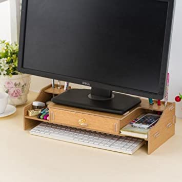 neat office supplies. Home-Neat DIY Wooden Desktop Monitor Stand, Riser And Desk Organizer, Neat Office Supplies F