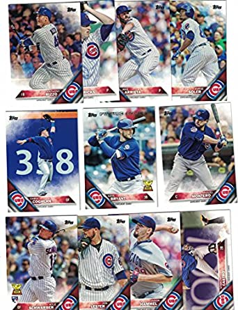 ccb3821a9 Chicago Cubs   Complete 2016 Topps Series 1   2 Baseball Team Set! With Kris  Bryant! at Amazon s Sports Collectibles Store