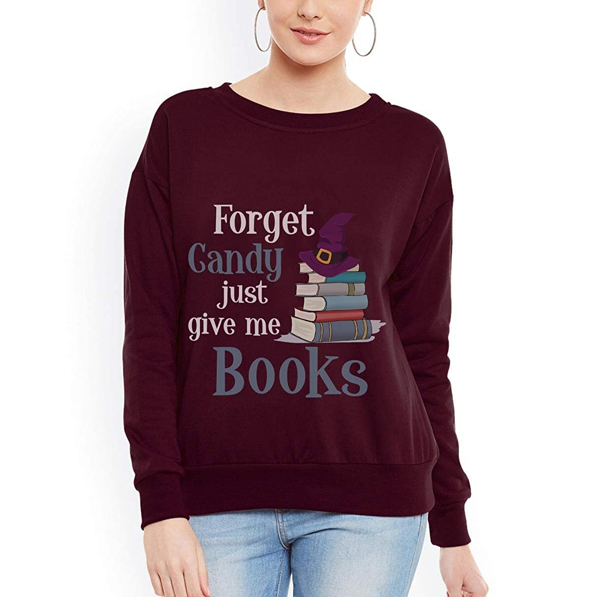 Forget Candy Give Me Books Unisex Sweatshirt tee