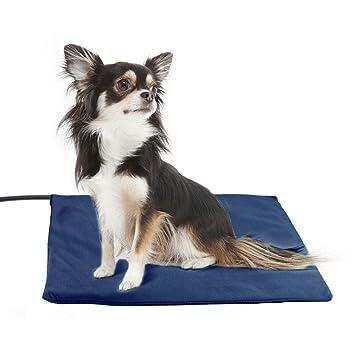 Almohadilla de calefacción para mascotas,colchonetas de cama con calefacción eléctrica para perros y gatos,forro Impermeable, grados con cable resistente ...