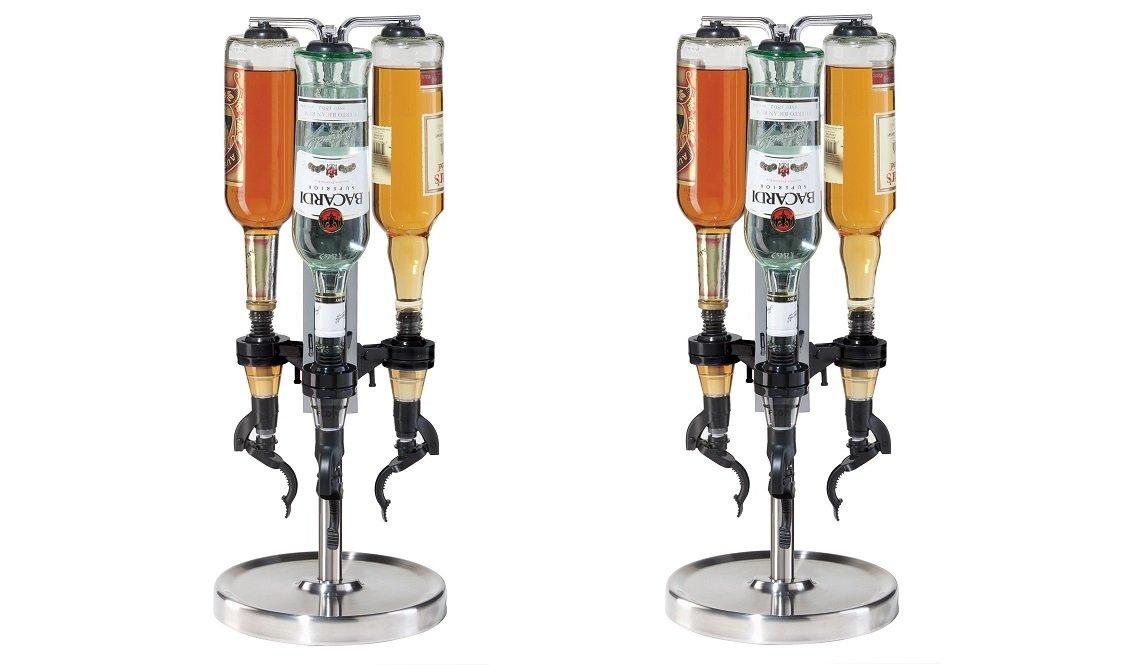 Oggiプロフェッショナル3-bottle Revolving Liquorディスペンサー Pack of 2 B078TMP7ZL  Pack of 2