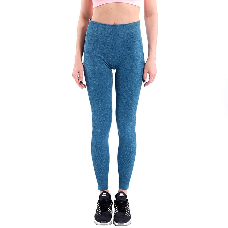 bluee QianQianStore High Waist Fitness Leggings Lift The Hips Serve Lady Skinny Legging Workout Casual Pants