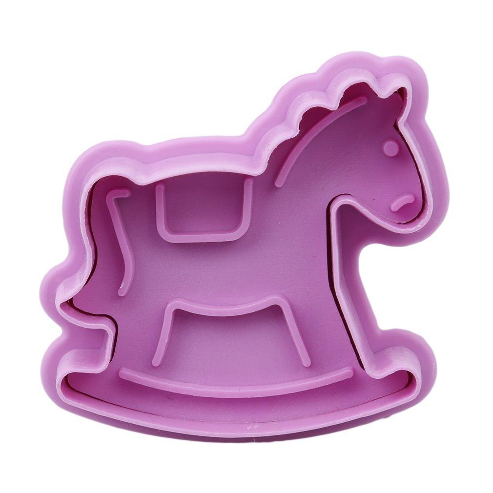 Hengsong Violet 4pcs B/éb/é Produits 3D Printing Moule /à G/âteau Deco DIY Fondant Cookie Biscuit de Moule