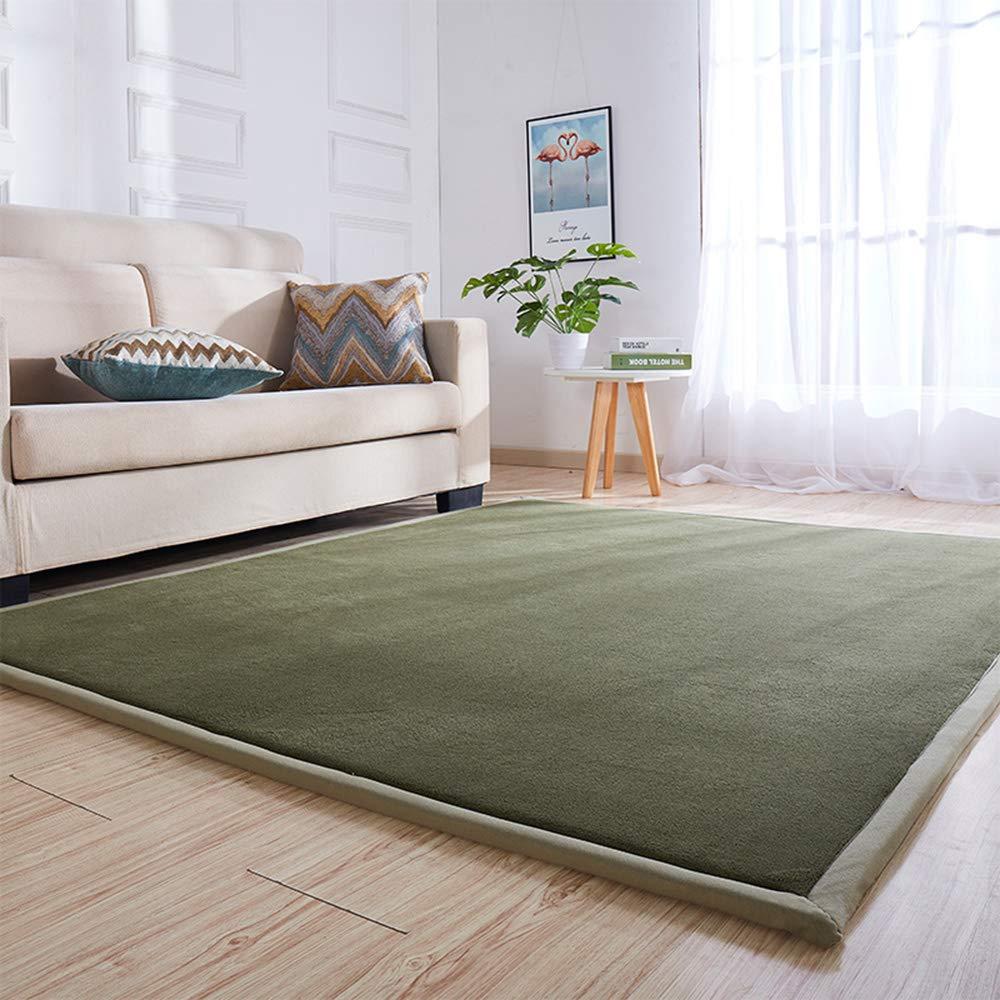 Love Home Tatami Matratze, Fußmattenauflage, japanische einfarbige Farbe, faltbar, Studenten-Wohnzimmer, Krabbelmatte, Schlafmatratze, Schlafmatte, Schaumstoff, Green a, 79x118inch(200x300cm)