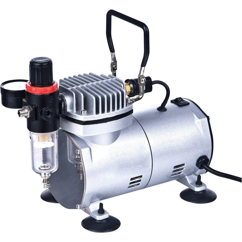 Compresor de aire portátil del aerógrafo con el filtro de aire AS18-2: Amazon.es: Juguetes y juegos