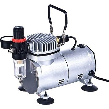 Compresor de aire portátil del aerógrafo con el filtro de aire AS18-2