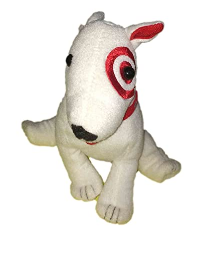 Target Bullseye Dog Bean Bag Plush 7quot