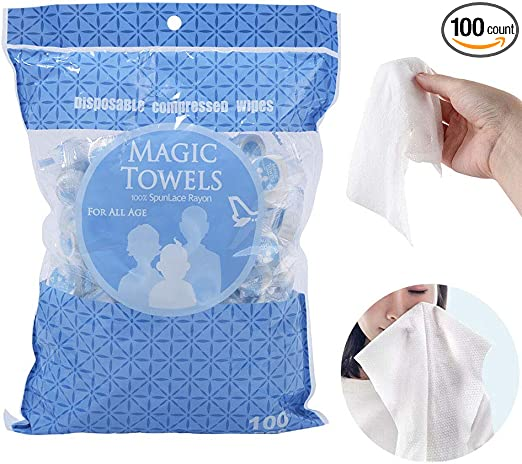 100Pcs Travel Compressed Coin Disposable Face Towel Baby Tablet Tissue
