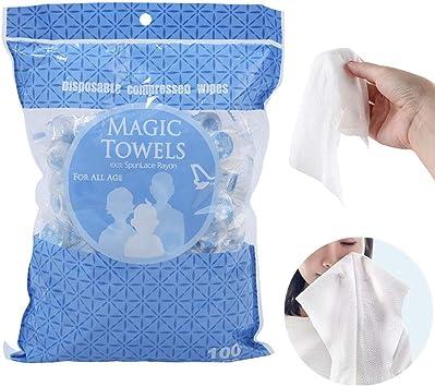 100 toallas de algodón comprimidas desechables para papel ...