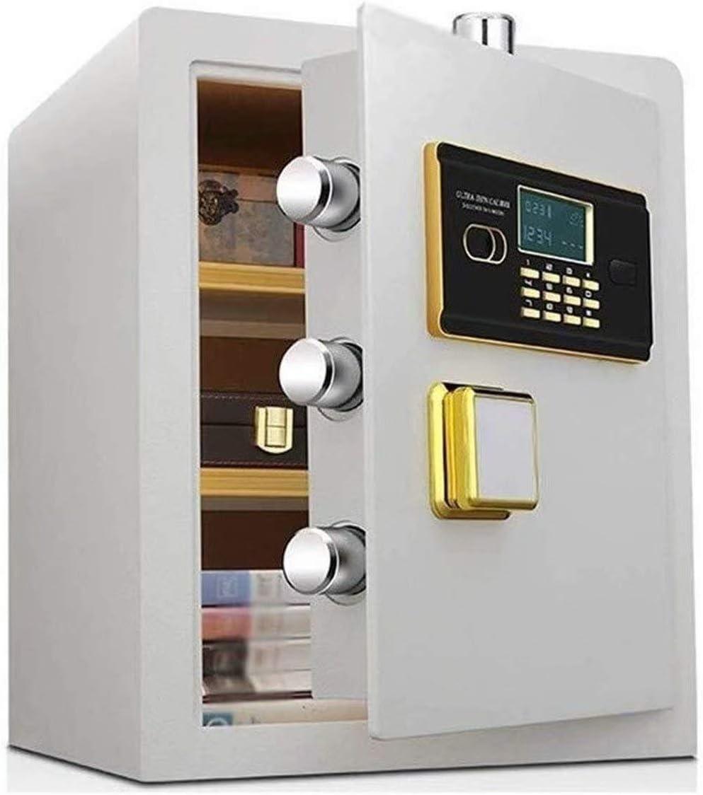 安全な、家庭用、電子パスワード預金ボックス、高セキュリティ鋼の金庫、盗難防止耐火性および防水電子金庫。(36 * 32 * 45 cm、ホワイト)