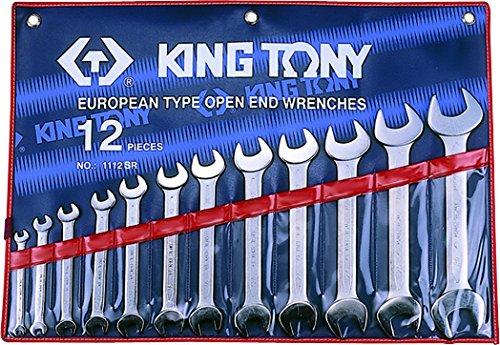king tony 1112SR Trousse de Clé s Fourches en Pouces, Set de 12