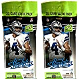 2 PACKS: 2020 Panini Absolute NFL Football CELLO pack (20 cards/pk)