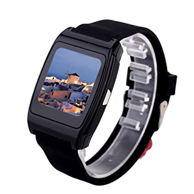 KKmoon Uwatch UX Reloj Inteligente Bluetooth 1,44 pantalla Podómetro Para IOS Android Smartphone anti
