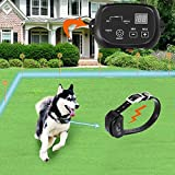 COVONO Invisible Fence for Dogs,Underground Electric Dog Fence with 650 Ft Wire for 1 Dog (in Ground Pet Containment System,IP66 Waterproof and Rechargeable Collar,Shock/Tone Correction)