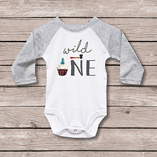 Lumberjack First Birthday Shirt by Sweet Bella Stationery