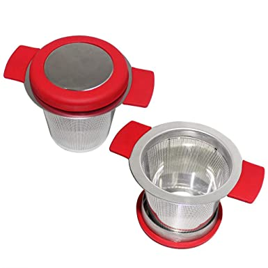 Kitchenware Mesh Strainer Infuser Filter Loose Tea Leaf Colander 10.4*7cm NEW