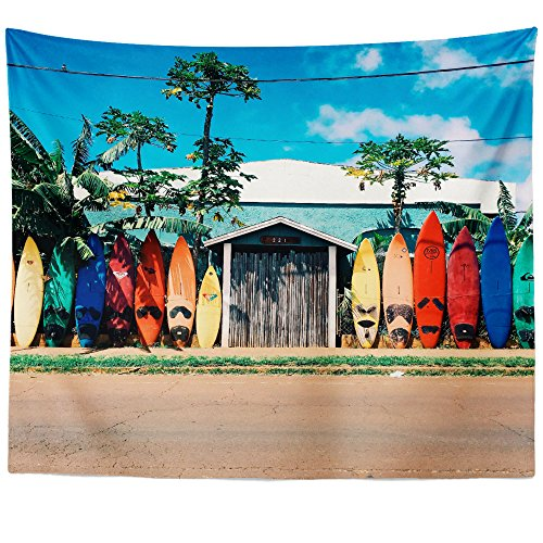 Westlake Art - Surfboard Surfing - Wall Hanging Tapestry - Picture Photography Artwork Home Decor Living Room - 26x36 Inch (Mural Wall Photo Island)