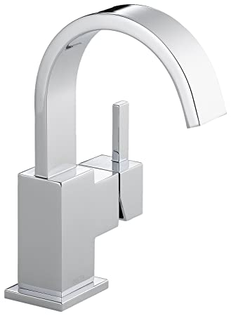 Delta 553LF Vero Single Handle Bathroom Faucet, Chrome - Touch On ...