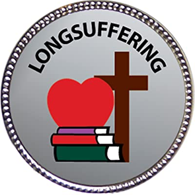 Keepsake Awards Longsuffering Award, 1 inch Dia Silver Pin Character Studies Collection: Toys & Games