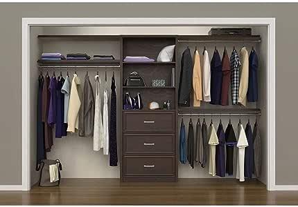 "Amazon.com: 56"" - 127"" Closet Organizer Kit Brown Espresso ..."