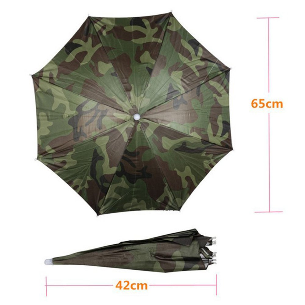 Amazon.com: Aklamater Elastic Fishing Gardening Folding Umbrella Hat Rain Cap Adjustable Outdoor Headwear: Sports & Outdoors