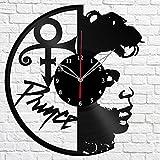 Prince Music Vinyl Record Wall Clock Fan Art Handmade Decor Original Gift Unique Decorative Vinyl Clock 12″ (30 cm) For Sale