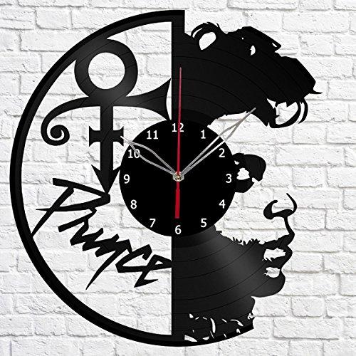 Prince Gift (Prince Music Vinyl Record Wall Clock Fan Art Handmade Decor Original Gift Unique Decorative Vinyl Clock 12