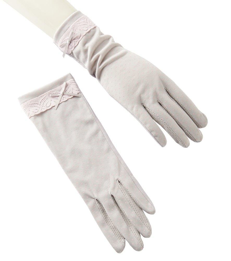 Women's Uv Protection Driving Glove Sun Block Glove Touch Screen Cotton Non-slip Slim Grey