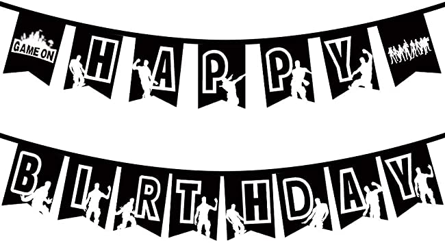 Black Personalized Birthday Flags Banner For Video Game Party Pop Game Party Supplies Decorations Floss Dance Like a Boss For Kids Adults Gaming Party Happy Birthday Banner