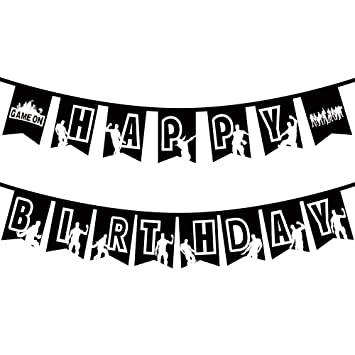 Amazon.com: Banderines de cumpleaños para fiesta de juegos ...