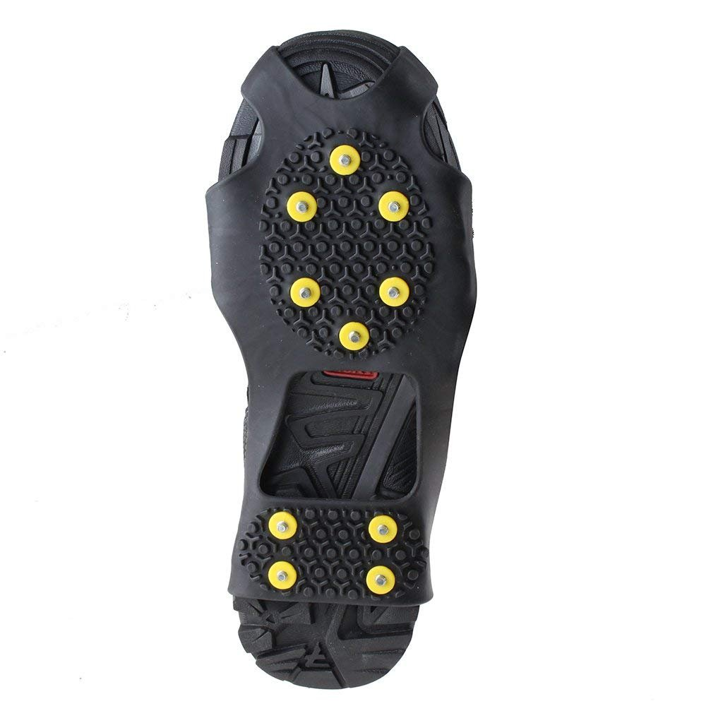 KISPAHN Anti-Slip Overshoes Ice Snow Traction Universal Shoe Covers Spike Snow Shoes Crampons Cleats - M