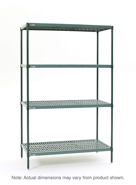 1 Height x 72 Width x 18 Depth 600 lb Metro 1872NK3 Super Erecta Metroseal 3 Pack of 2 Capacity Steel Wire Shelf with Microban