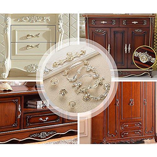 Zhi Jin 4Pcs Luxury Cabinet Handles Wardrobe Shoe Drawer Handle Room Decorative Silver 8603-96mm/3.7Inch by Zhi Jin (Image #4)