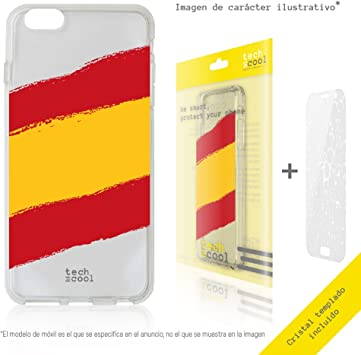 Funnytech® Funda Silicona para iPhone XR [Gel Silicona Flexible, Diseño Exclusivo] Bandera España Transparente: Amazon.es: Electrónica