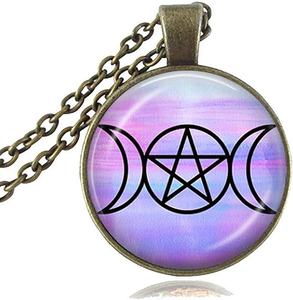 Satanic Gift Pentagram Pendant Pentagram Necklace Silver Women Girls Pentagram Jewelry Initial Birthstone Letter Pentagram Charm