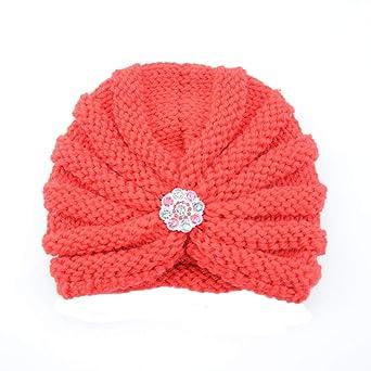 a73c3578f478 Bonnet Bébé, Mamum Enfants bébé filles tricot chapeau bonnet turban tête  Wrap Cap bouchon de pile (Noir)  Amazon.fr  Gros électroménager