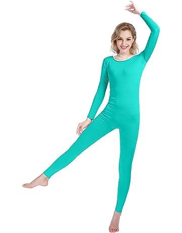 235f6b12c9e8 SHINNINGSTAR Girls Womens Well-fit Spandex Lycra Bodysuit Long Sleeve Scoop  Neckline Footless Unitard
