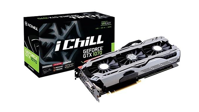 Inno3D GeForce GTX 1070 iChiLL X4 8GB GDDR5 Tarjeta gráfica 3xDP ...