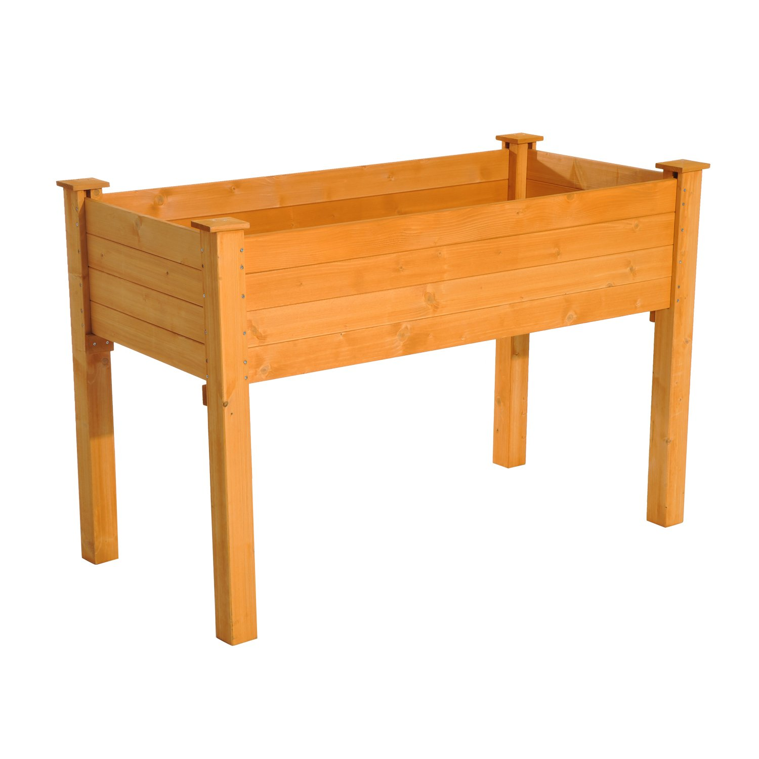 Outsunny Elevated Garden 2' x 4' Wooden Flower Bed Planter Box by Outsunny
