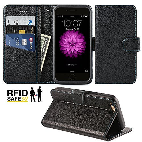 iPhone Wallet Case Kickstand Shockproof product image