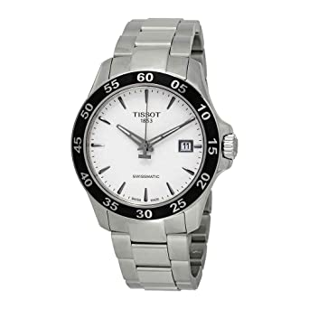 Amazon Com Tissot Men S V8 Swissmatic T1064071103100 Silver Grey