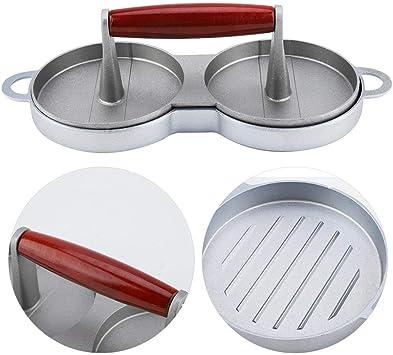 aleaci/ón de Aluminio Antiadherente Molde para Prensa Herramientas de Cocina Sugoyi Hamburguesa Carne Hamburguesa Hamburguesa Doble M/áquina para Hacer Hamburguesas Carne